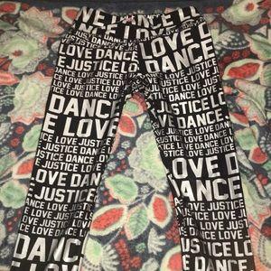 Love dance justice leggings